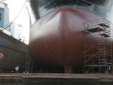 Bulb Nose of a Ship in Gdansk Dry Dock Shipyard Photographic Print by  Keenpress