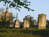 Morning Light on Tombstones and Tombs in the Oakland Cemetery, Atlanta Fotografiskt tryck av Krista Rossow