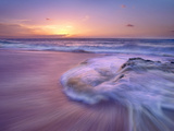 Sandy Beach at Sunset, Oahu, Hawaii Photographic Print by Tim Fitzharris/Minden Pictures