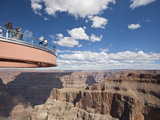 A View of the Skywalk over the Grand Canyon Photographic Print by John Burcham