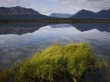 Reflections of Mountains in Calm Lake, Kluane Range in Background, Yukon, Canada Photographic Print by Theo Allofs/Minden Pictures