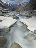 White River Rapids Flow over Spring Snow Bank, Arthur's Pass National Park, Canterbury, New Zealand Photographic Print by Colin Monteath/Minden Pictures