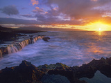 Sunset at Shark's Cove, Oahu, Hawaii Photographic Print by Tim Fitzharris/Minden Pictures