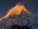 Manaslu (8,156 Meters) at Dawn, Mansiri Himal Region of the Nepalese Himalayas, Nepal Photographic Print by Colin Monteath/Minden Pictures