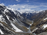 River Descends from Southern Alps to Waimakariri River, Arthur's Pass Nat'l Park, New Zealand Photographic Print by Colin Monteath/Minden Pictures