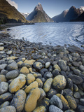 Mitre Peak in Summer, Milford Sound, Fiordland National Park, New Zealand Photographic Print by Colin Monteath/Minden Pictures