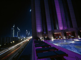 Views from the 9th Floor Swimming Pool at a Dubai Hotel Photographic Print by Maggie Steber