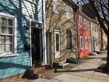 Colorful Houses on South Ann Street in the Fell's Point Neighborhood Photographic Print by Krista Rossow