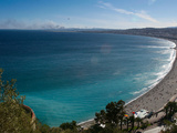 The Beach Along the Promenade Des Anglais and the Mediterranean Sea Photographie par AJ Wilhelm
