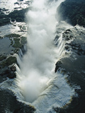 Aerial View over the Iguacu Falls, World's Largest Waterfalls Photographic Print by Mark Moffett