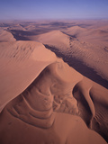 Aerial View of Star Dune Formations, Namib-Naukluft National Park, Namibia Photographic Print by Gerry Ellis