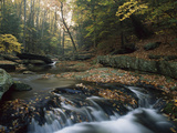 Small Waterfall on Hunting Creek in Fall, Catoctin Mountain Park, Maryland Photographic Print by Gerry Ellis