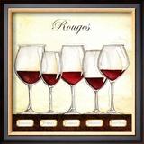 Les Vins Rouges Posters by Andrea Laliberte