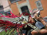 A Conchero Aztec Dancer Elebrates Toxcatl, Dedicated to the Sun Photographic Print by Steve Raymer
