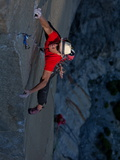 A Climber, Without a Rope, Grips an Expanse of El Capitan Called the Prophet Photographic Print by Jimmy Chin