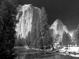 A Long Exposure and a Full Moon Light Up the Yosemite Valley Photographic Print by Ben Horton
