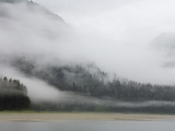 Clouds and Mist over Forest, Admiralty Island National Monument, Inside Passage, Alaska Fotografiskt tryck av Konrad Wothe