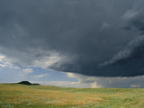 A Summer Storm Looms over Prairie Photographic Print by Annie Griffiths