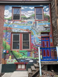 Painted Murals on Building Next to the Mattress Factory Photographic Print by Richard Hewitt Nowitz