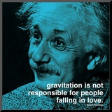 Einstein: Love Mounted Print