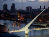 Puente De Mujer in the Puerto Madero Section of Buenos Aires Photographic Print by Michael S. Lewis