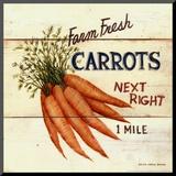 David Carter Brown - Farm Fresh Carrots Reprodukce aplikovaná na dřevěnou desku