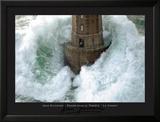 Leuchtturm und stürmische Wellen Poster von Jean Guichard