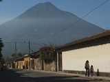 A Village at the Foot of a Volcano in Guatemala Photographic Print by Karen Kasmauski