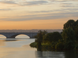 Twilight View of the 14th Street Bridge over the Potomac River Photographic Print by Brian Gordon Green