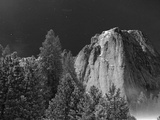 A Full Moon Lights Up El Capitan Late at Night Photographic Print by Ben Horton