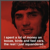 George Best: Money Mounted Print