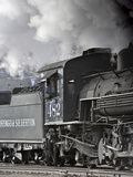 A Steam Train Moves on Down the Tracks Photographic Print by Robbie George