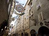 Signs and Architecture in the Salzburg Shopping District Photographic Print by James P. Blair