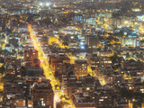Detail Night Photograph of Bogota, Columbia Photographic Print by Sam Kittner