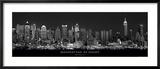 Manhattan om aftenen, New York City Plakater af Richard Sisk