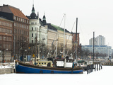 Boats on the Waterfront in Winter Photographic Print by Alison Wright
