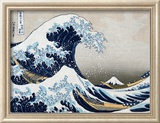 The Great Wave at Kanagawa (from 36 views of Mount Fuji), c.1829 Art by Katsushika Hokusai