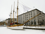 A Sailing Ship on the Waterfront in Winter Photographic Print by Alison Wright
