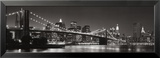 Brooklyn Bridge and Manhattan Skyline Poster by Graeme Purdy