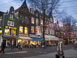 Spui Square on a Winter Evening Photographic Print by Abraham Nowitz