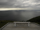 A Solitary Bench Above the Atlantic Ocean Photographic Print by Karen Kasmauski