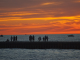 Grand Haven Pier on Lake Michigan at Twilight Photographic Print by Karen Kasmauski