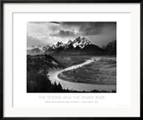 Tetons and The Snake River, Grand Teton National Park, c.1942 Print by Ansel Adams