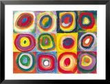 Fargestudie av kvadrater, ca. 1913|Farbstudie Quadrate, c.1913 Plakat av Wassily Kandinsky