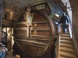A Giant Oak Wine Barrel at Heidelberg Castle Holding 220,000 Litres Reproduction photographique par Greg Dale