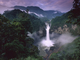 San Rafael or Coca Falls on the Quijos River, Amazon, Ecuador Fotografisk tryk af Pete Oxford