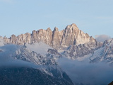 Mount Whitney Covered in Snow and Low Clouds Photographic Print by James Forte