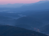 Dawn in the Great Smoky Mountains Overlooking Gatlinburg Photographic Print by Karen Kasmauski