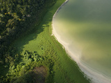 Aerial of a Lakeshore, Beach and Jungle Near Xihal Photographic Print by Karen Kasmauski
