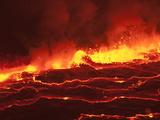 Peter Carsten - Waves of Lava in Nyiragongo's Crater - Fotografik Baskı